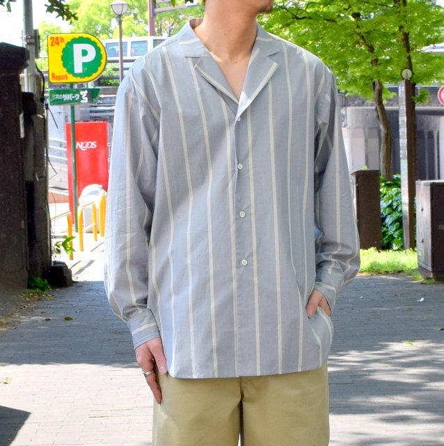 【30% off sale 】un unbient /TAILORED COLLAR SHIRT -BLUE STRIPE-#UNSSH1919-1(1)