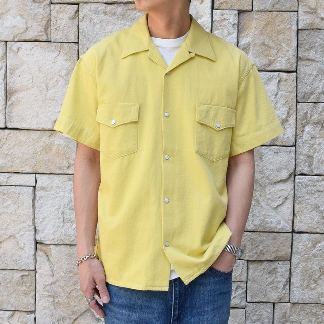 【30% off sale 】WESTOVERALLS( ウエストオーバーオールズ )  DENIM S/S SHIRTS 19SWSH01-YE(1)