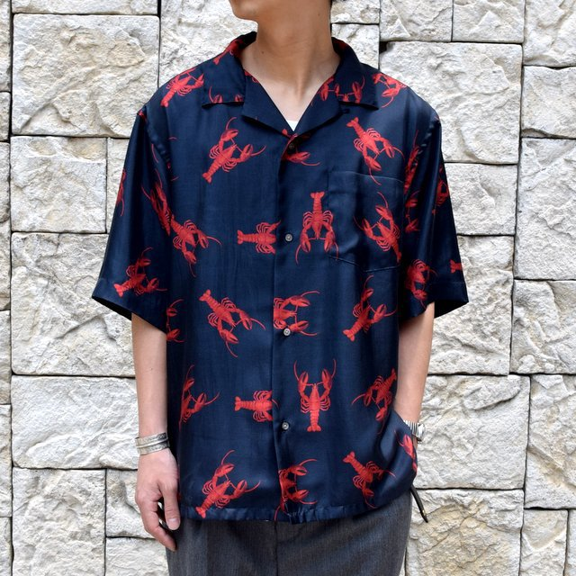 【40% off sale】【2019 SS】blurhms(ブラームス) / SILK OPEN COLLAR PATTERN S/S -LOBSTER- #BHS-19SS023PTN(1)