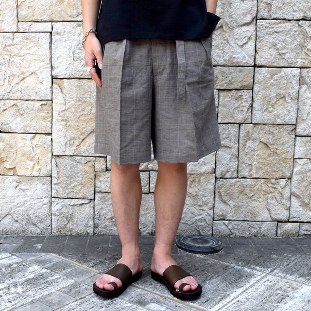 【30% off sale 】KAPTAIN SUNSHINE (キャプテンサンシャイン)/ Riviera Gurkha Shorts -GREN PLAID- #KS9SPT04(1)