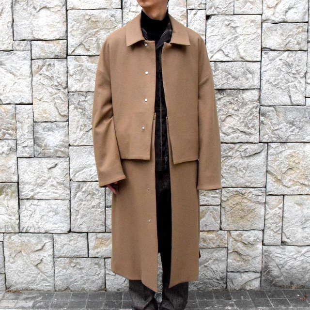 YOKE(ヨーク)/3WAY BAL COLLAR SHARE COAT -CAMEL- #YK19AW0049C(1)