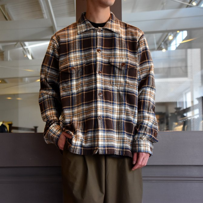 South2 West8(サウスツーウエストエイト) SMOKEY SHIRT-TWILL/PLAID #FK841(1)