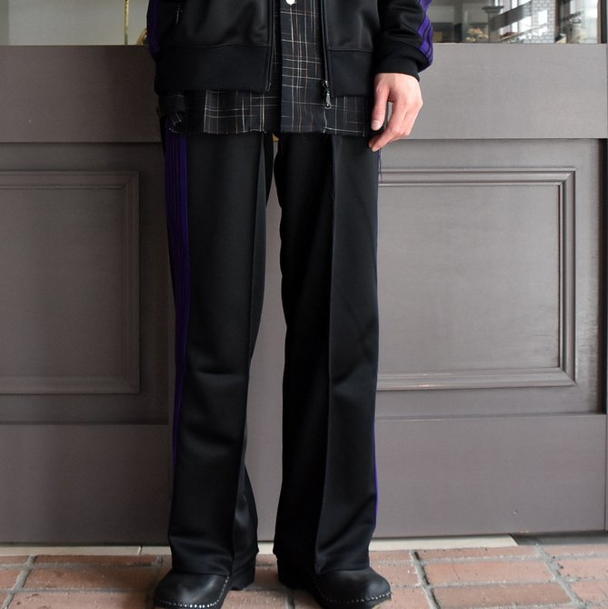 NEEDLES (ニードルス) TRACK PANT-POLY SMOTTH-BLACK/#FK193(1)