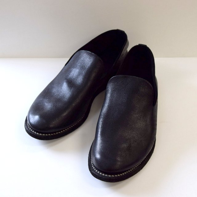 GUIDI(グイディ) SLIP-ON SHOES -BLACK- #E28M(1)