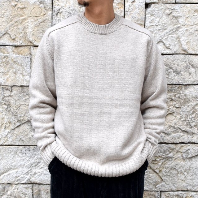 BATONER(バトナ—)/ HEAVY WEIGHT CASHMERE CREW NECK BN-19FL-044(1)