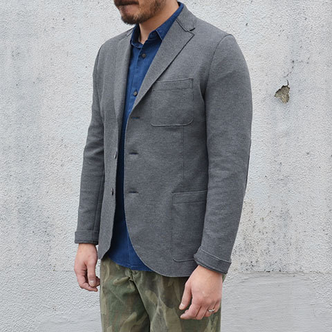Harris Wharf London (ハリスワーフロンドン) Man Jacket Piquet -(140)middle grey- (2)