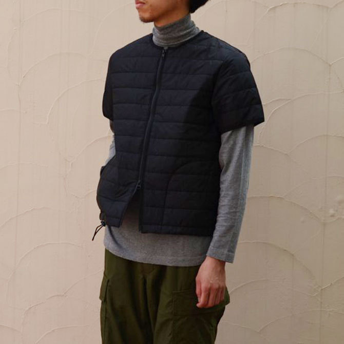 MASTER&Co.(マスターアンドコー) THINSULATE S/S INNER DOWN -(99)BLACK-(2)