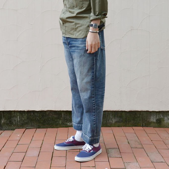 YOUNG&OLESEN(ヤングアンドオルセン) big cinch jeans-WASHED OUT-(2)