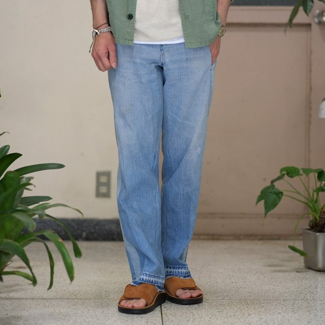 【30% off sale】7 ×7 / seven by seven ( セブン バイ セブン )   REWORK DENIM TROUSERS 2  - INDIGO -(2)