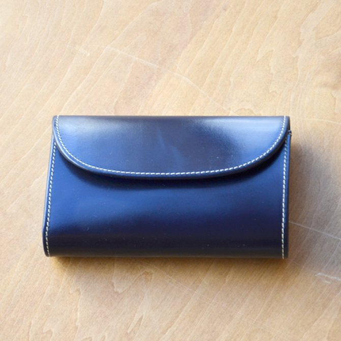 Whitehouse Cox (ホワイトハウスコックス)  3FOLD WALLET BRIDLE S7660 -NAVY-(2)