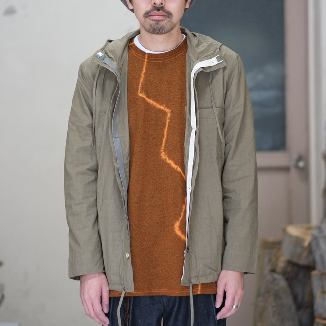 【30% off SALE】【2018 SS】FRANK LEDER(フランク リーダー) TRIPLE WASHED THIN COTTON HOOD JACKET -BEIGE-  #0212013(2)
