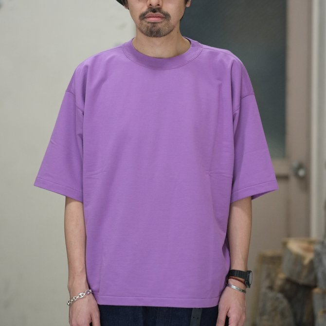 【2018 SS】AURALEE(オーラリー)/  SUPER HIGH GAUGE SWEAT BIG TEE -PURPLE- #A8ST02NU(2)
