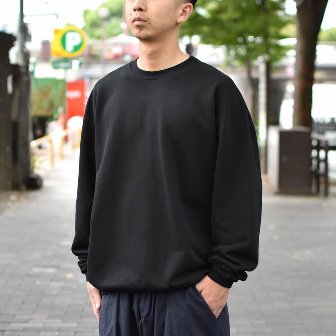 【2018 AW】AURALEE(オーラリー)/ SUPER SOFT HEAVY SWEAT P/O -BLACK- #A8AP01GU(2)