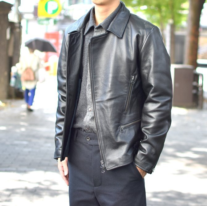 【2018 AW】 FRANK LEDER(フランクリーダー) | ARCHIVE EDITION COW LEATHER BIKE JACKET + SPADE -(99)BLACK- #0422065-99(2)