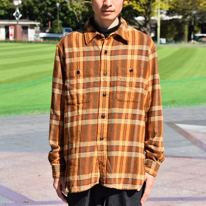 South2 West8(サウスツーウエストエイト) Work Shirt  [Cotton Twill / Plaid ] -BROWN-  #DI846(2)