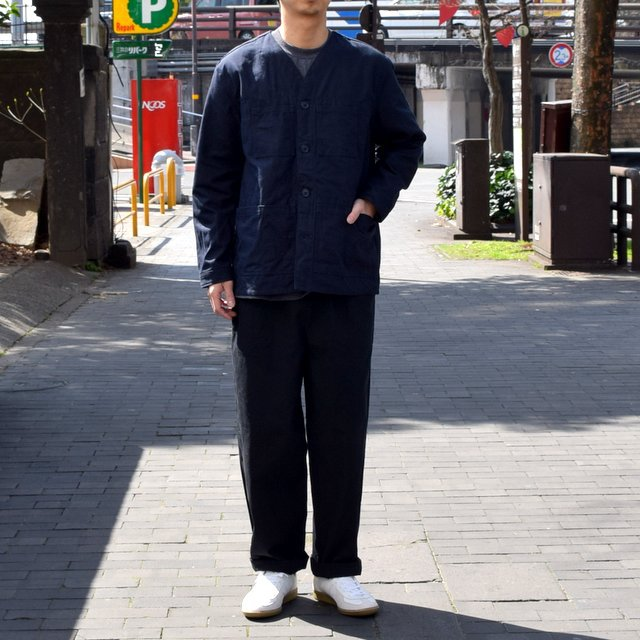 holk (ホーク) Farmers jacket -NAVY- #HOLK-002 (2)