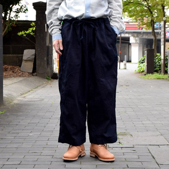 【30% off sale 】 FRANK LEDER(フランクリーダー)INDIGO DYED WASHED TROUSERS #0613030-39(2)