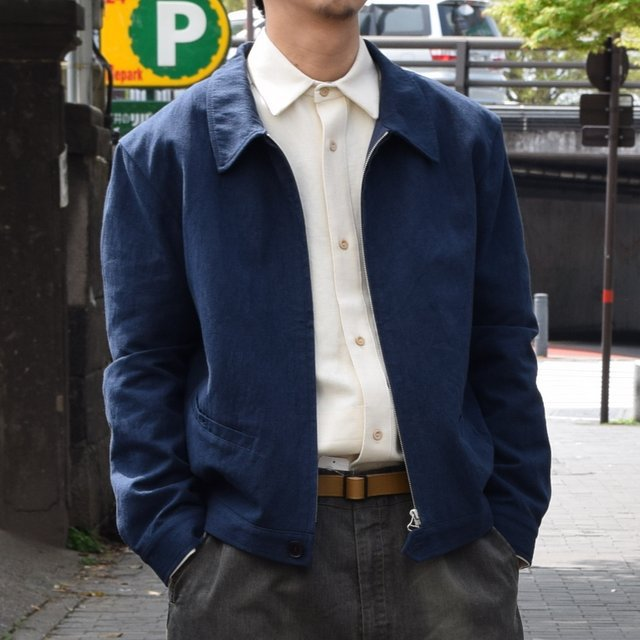 【30% off sale 】FRANK LEDER(フランクリーダー) COTTON SPADE JACKET -(39)NAVY- #0612009-39(2)
