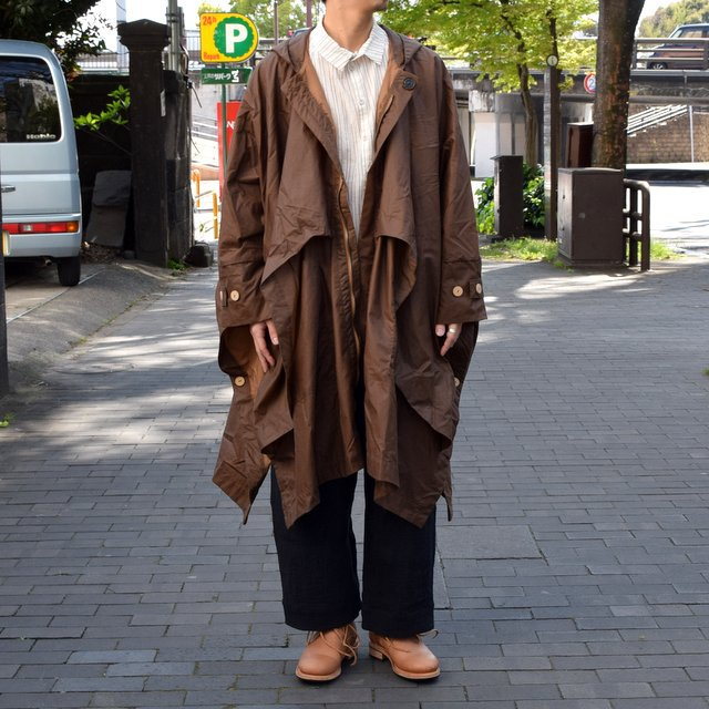 【2019 SS】 too good(トゥーグッド) / THE MESSENGER CAPE WAXED COTTON LW -CLAY-(2)