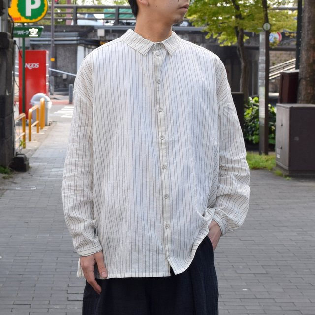 【2019 SS】 too good(トゥーグッド) / THE DRAUGHTSMAN SHIRTS WIDE -TICKING STRIPE-(2)