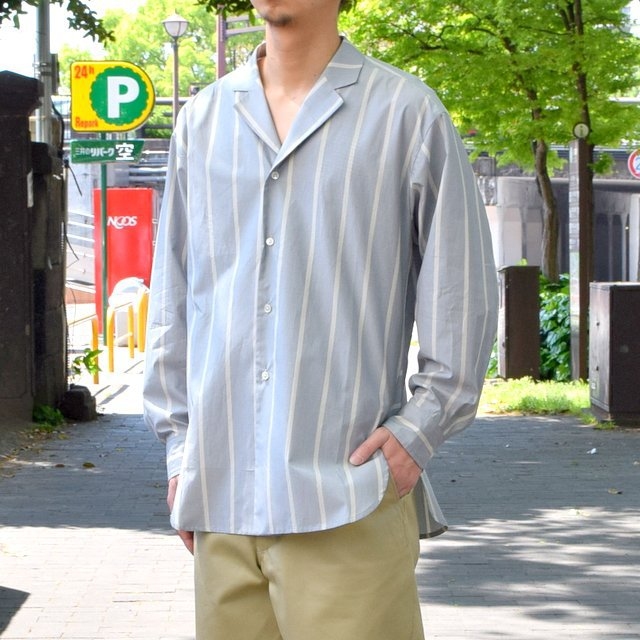 【30% off sale 】un unbient /TAILORED COLLAR SHIRT -BLUE STRIPE-#UNSSH1919-1(2)