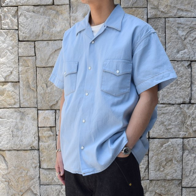 【30% off sale 】WESTOVERALLS( ウエストオーバーオールズ )  DENIM S/S SHIRTS 19SWSH01-SA(2)