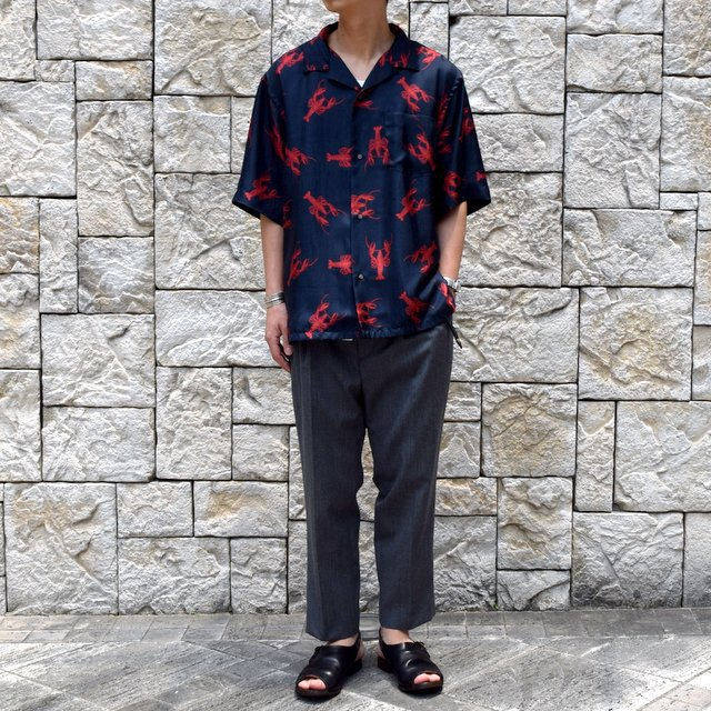 【40% off sale】【2019 SS】blurhms(ブラームス) / SILK OPEN COLLAR PATTERN S/S -LOBSTER- #BHS-19SS023PTN(2)