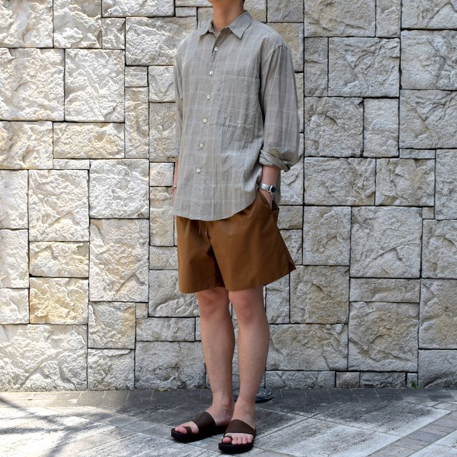 【2019 SS】AURALEE(オーラリー)/ LIGHT FINX POLYESTER SHORTS -2色展開-#A9SP03PW(2)