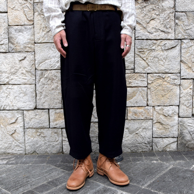 【2019 AW】 toogood(トゥーグッド) / THE ARTIST TROUSER WOOL CASH FLANNEL -FLINT- #62034110(2)