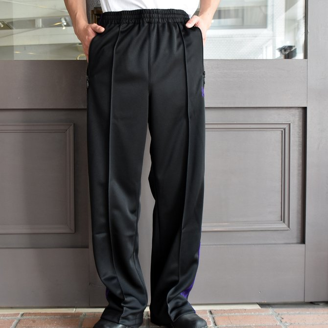NEEDLES (ニードルス) TRACK PANT-POLY SMOTTH-BLACK/#FK193(2)