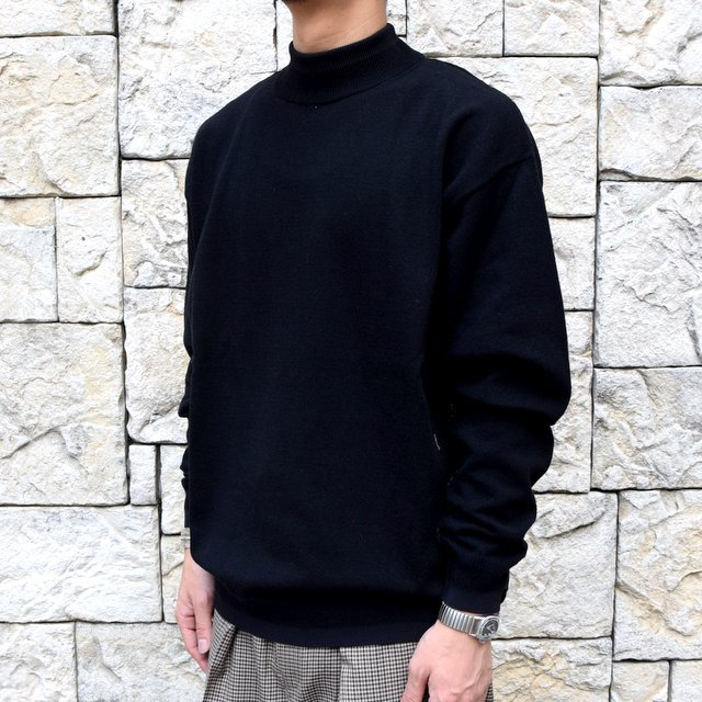 YOKE(ヨーク)/WOOL SABLE MOCK NECK L/S -BLACK- #YK19AW0075S(2)