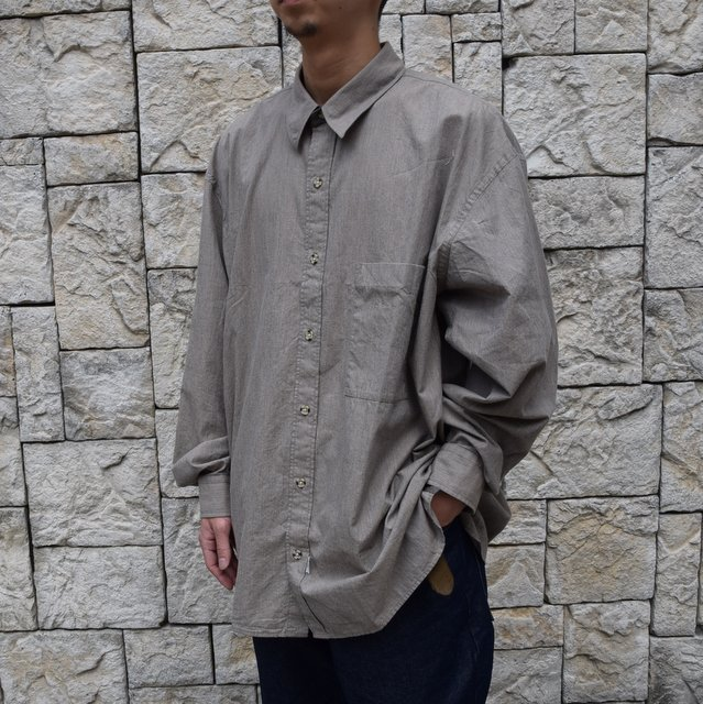 Marvine Pontiak Shirt Makers(マーヴィンポンティアックシャツメーカーズ)/TWO TONE L/S Shirt -BROWN- #MPSM-1913S(2)