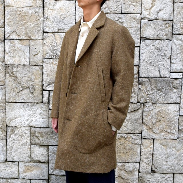 【30% off sale】FRANK LEDER(フランクリーダー) /DOG WOOL SINGLE BREASTED COAT -KHAKI- #0721014(2)