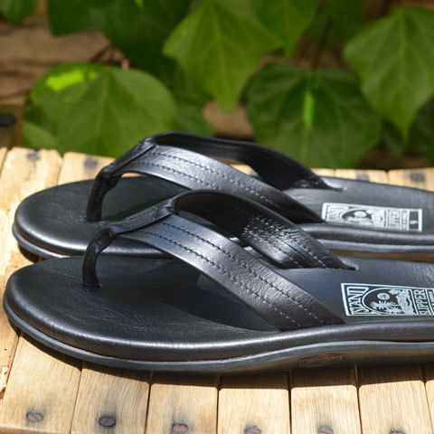 ISLAND SLIPPER (アイランドスリッパー) Men's Thong -BLACK-(2)