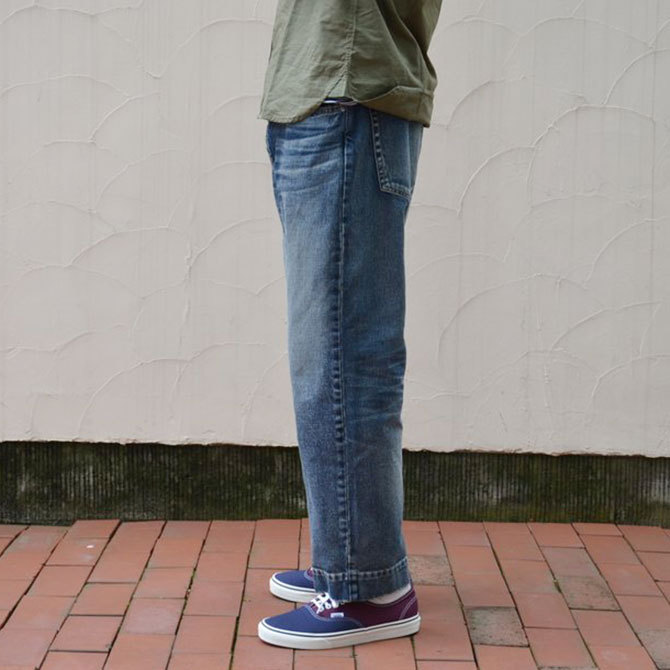 YOUNG&OLESEN(ヤングアンドオルセン) big cinch jeans-WASHED OUT-(3)