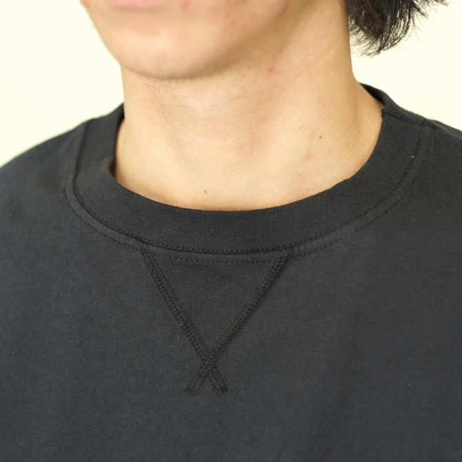 Cal Cru(カルクルー) C/N S/S RELAXED FIT反応染め(MADE IN USA)  -BLACK-【S】(3)