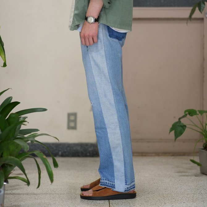 【30% off sale】7 ×7 / seven by seven ( セブン バイ セブン )   REWORK DENIM TROUSERS 2  - INDIGO -(3)