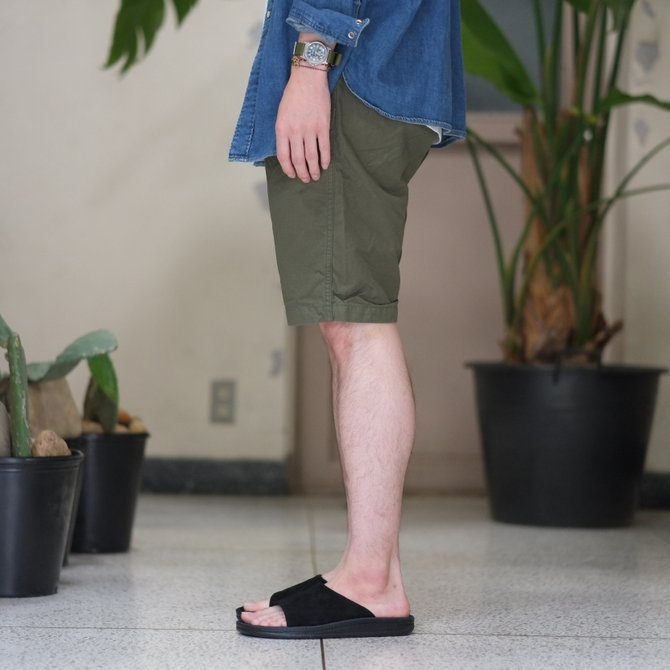 orSlow(オアスロウ)/ UNISEX NEW YORKER SHORTS -(76)ARMY GREEN - #03-7022-76(3)