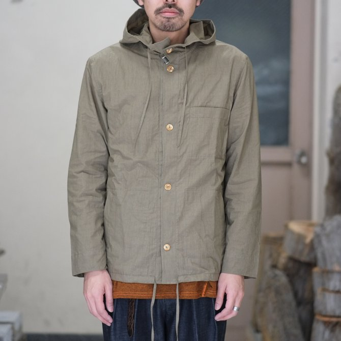 【30% off SALE】【2018 SS】FRANK LEDER(フランク リーダー) TRIPLE WASHED THIN COTTON HOOD JACKET -BEIGE-  #0212013(3)
