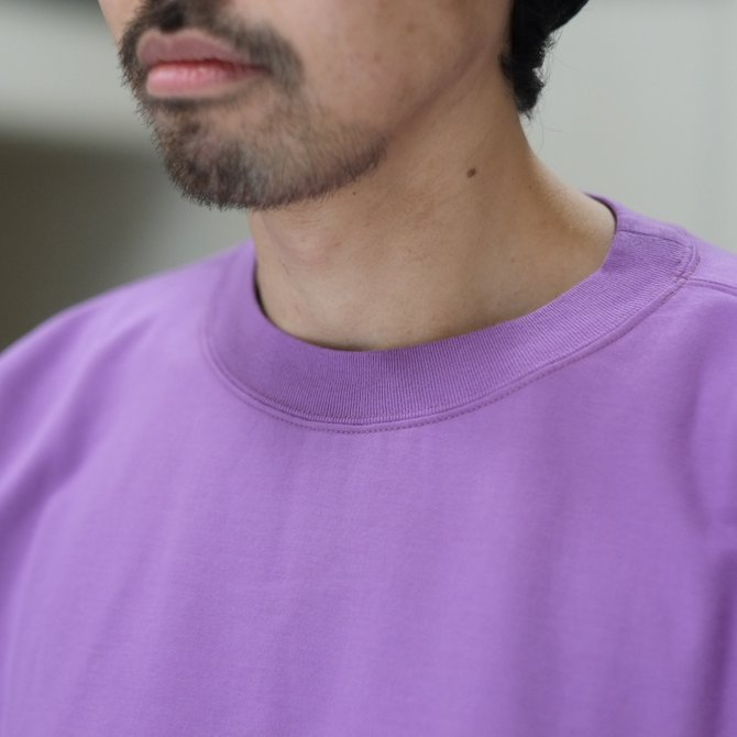 【2018 SS】AURALEE(オーラリー)/  SUPER HIGH GAUGE SWEAT BIG TEE -PURPLE- #A8ST02NU(3)