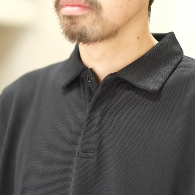 blurhms(ブラームス) / Seed Stitch Cubic Polo  -Black-  BHS-18SS024(3)