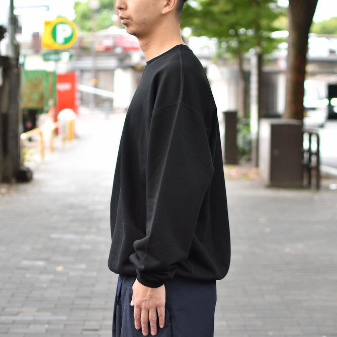 【2018 AW】AURALEE(オーラリー)/ SUPER SOFT HEAVY SWEAT P/O -BLACK- #A8AP01GU(3)