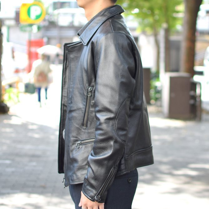【2018 AW】 FRANK LEDER(フランクリーダー) | ARCHIVE EDITION COW LEATHER BIKE JACKET + SPADE -(99)BLACK- #0422065-99(3)