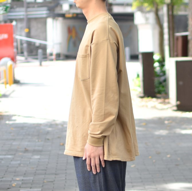 【2018 AW】 Graphpaper (グラフペーパー) L/S Pocket Sweat Tee -BEIGE- #GM183-70078(3)