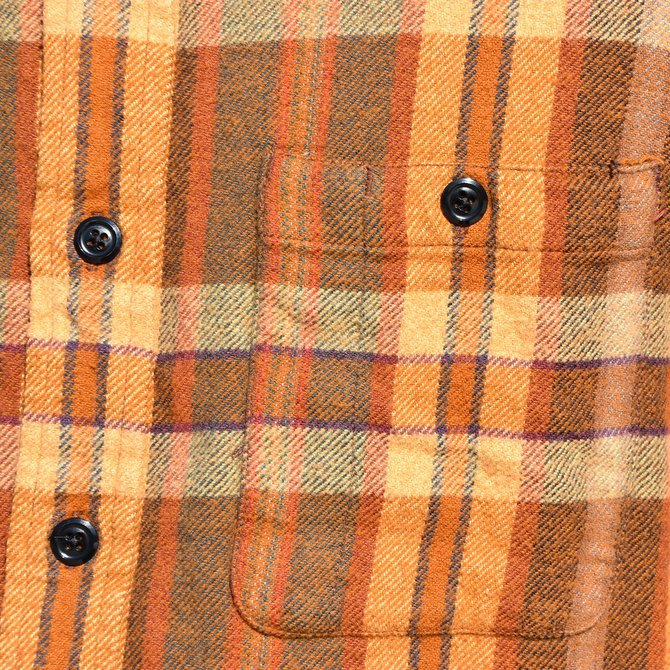South2 West8(サウスツーウエストエイト) Work Shirt  [Cotton Twill / Plaid ] -BROWN-  #DI846(3)
