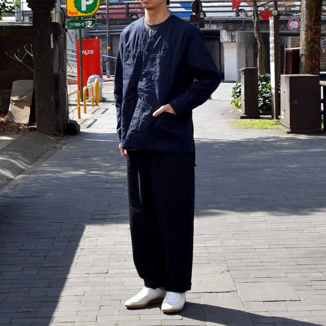 holk (ホーク) Farmers jacket -NAVY- #HOLK-002 (3)