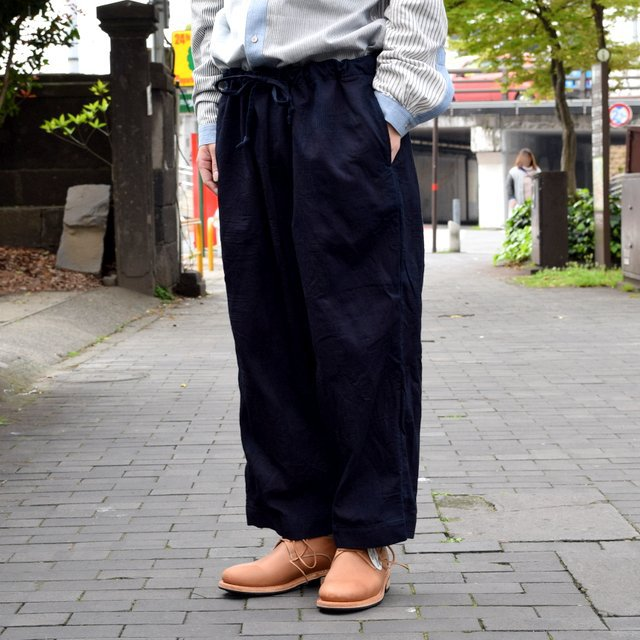 【30% off sale 】 FRANK LEDER(フランクリーダー)INDIGO DYED WASHED TROUSERS #0613030-39(3)