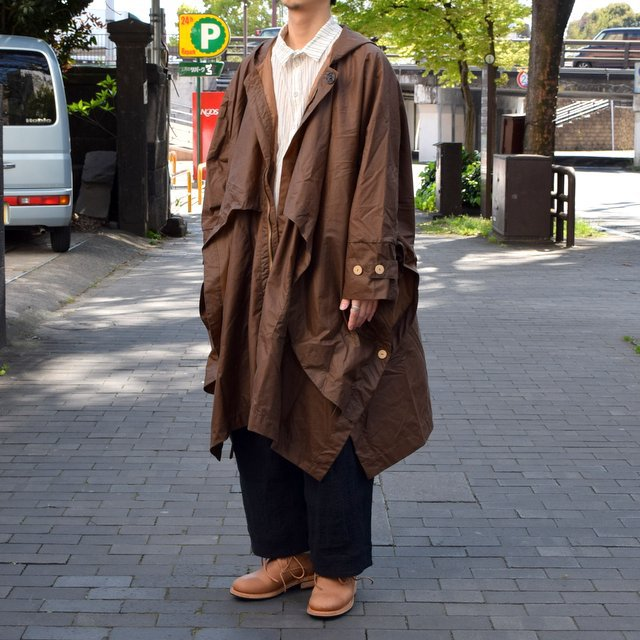 【2019 SS】 too good(トゥーグッド) / THE MESSENGER CAPE WAXED COTTON LW -CLAY-(3)