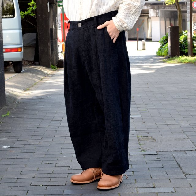 【2019 SS】 too good(トゥーグッド) / THE TINKER TROUSER DOUBLE CLOTH KINEN -FLINT- #62034990-19ss(3)