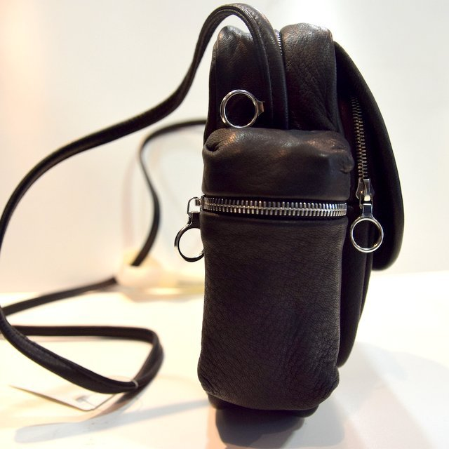 Aeta (アエタ) DEER LEATHER SHOULDER POUCH -BLACK-#DA05(3)